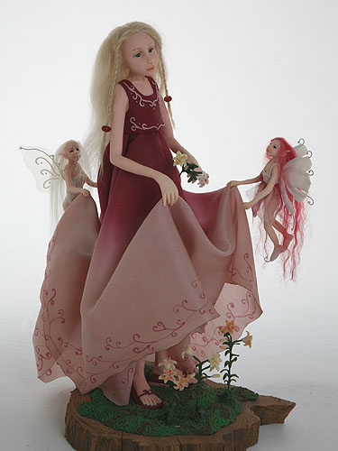 Lily fairy sculpture doll