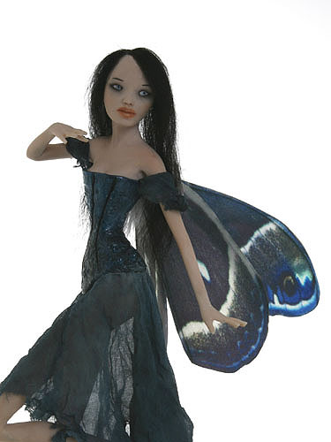 nightwish gothic  fairy sculpture polymer clay