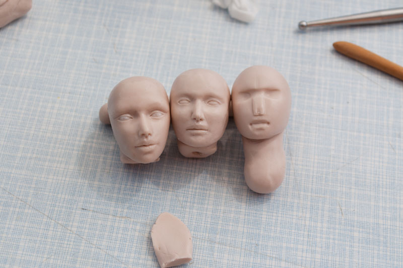 fairy sculptures heads
